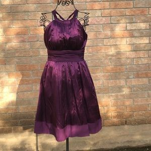 100% silk purple Adrianna Papell Boutique dress 6